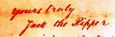 The Jack the Ripper signature on the Dear Boss letter.