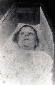 The mortuary photo of Jack the Ripper victim Mary Nichols.