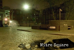 A view of Mitre Square today where Jack the Ripper's fourth victim, Catherine Eddowes, was murdered.
