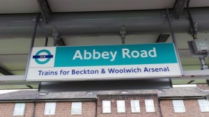 A photo of the Abbey Road DLR Station.