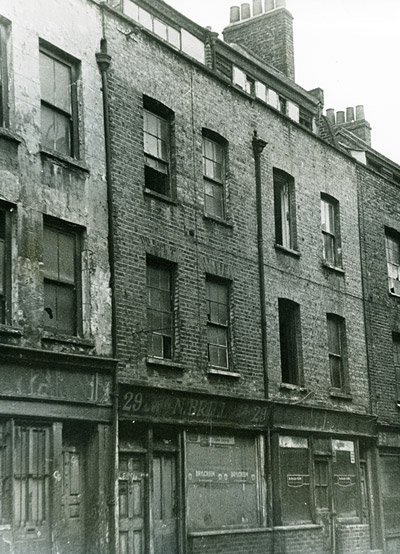 A view of the facade of 29 Hanbury Street where the body of Jack the Ripper victim Annie Chapman was found.