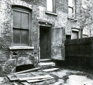 The backyard of 29 Hanbury Street where the body of Annie Chapman, Jack the Ripper's second victim, was discovered.