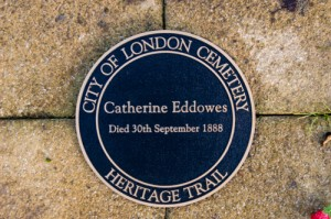 Th memorial at the burial site of Catherine Eddowes.