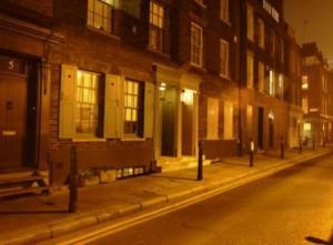 A view along Fournier Street.