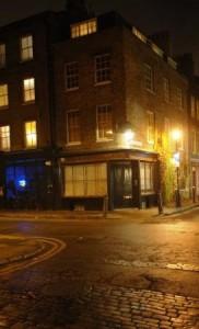 The corner house in Hanbury Street.