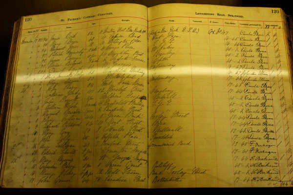 The Burial Register showing the burial of Jack the Ripper's final victim Mary Kelly.