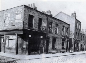 A view of Berner Street where Elizabeth Stride, the third Jack the Ripper victim, was murdered.