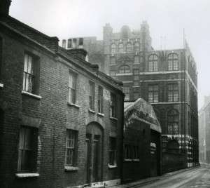 A view looking along Durward Street where the body of Mary Nichols, the first victim of Jack the Ripper, was found.