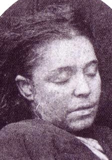The mortuary photograph of Frances Coles.
