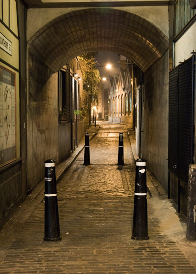 A view of Gunthorpe Street which was called George Yard at the time of the Jack the Ripper Murders.