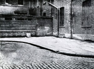 The corner in Mitre Square where Catherine Eddowes body was found.