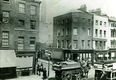 The junction of Osborn Street and Whitechapel Road where Jack the Ripper's victim Mary Nichols was last seen alive.