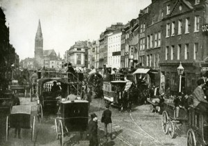 A view of Whitechapel High Street in 1888