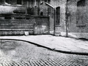 The corner in Mitre Square where the body of Jack the Ripper victim Catherine Eddowes was found.