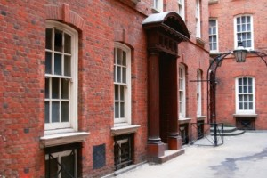 The red brick building that was the headquarters of the City Police during the Jack the Ripper Murders.