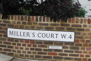 This street shares the name Miller's Court with the location in Spitalfields where Mary Kelly was murdered.