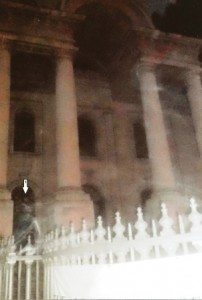 A ghostly figure that appeared on a photograph taken by a recent participant on our Jack the Ripper Tour.