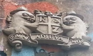 These creatures can be seen on a wall in Spitalfields.