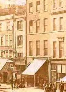 A close up of the White hart Pub as it appeared in 18888.