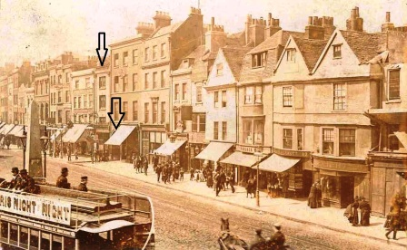 A photo showing Whitechapel High Street at the time of the Jack the Ripper Murders.