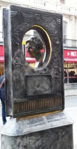 The new West End memorial to the Queen of Crime, Agatha Christie.
