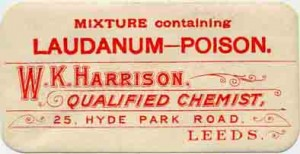 A 19th century  advert  for laudanum