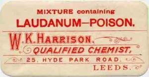 A 19th century advert for laudanum
