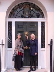 Lindsay Siviter outside the house of Sir William Gull.
