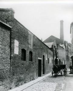 A view along George Yard, scene of Martha Turner's Murder.