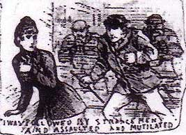 Emma Smith, the first Whitechapel Murders victim, is followed by her attackers.