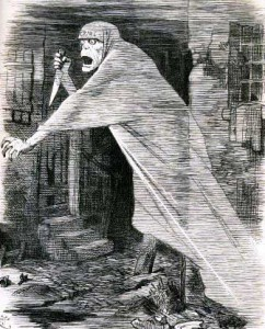 An image from Punch showing a knife-wielding ghoulish figure.