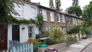 Some of the delightful cottages to be found in Mile End Place.