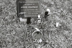 An image of the grave of Jack the Ripper victim Annie Chapman.