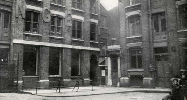Looking across at the north east corner of Mitre Square from the murder site.