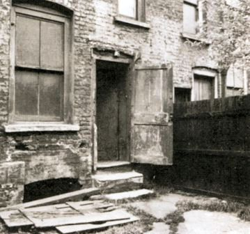 A view of the rear of 29 Hanbury Street where the body of Annie Chapman was found.
