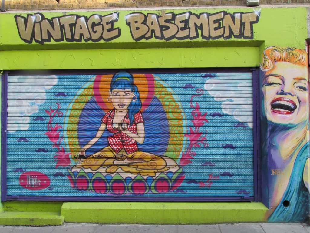 A colourful piece of Cheshire Street Art.