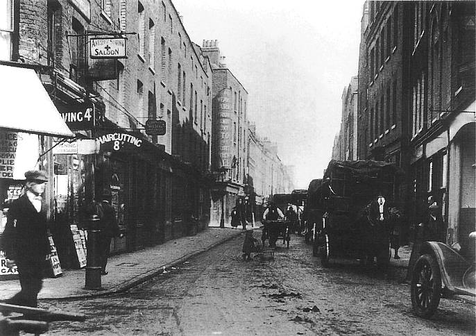 A view of Hanbury Street as it was at the time of the murder.