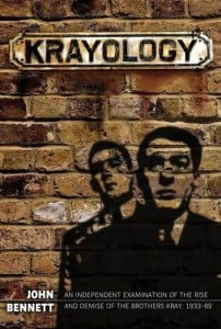 The front cover of John Bennett's Krayology showing the Kray Twins