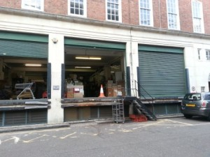 A view of the food warehouse that stood on the site of Miller's Court.