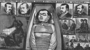 Images from the Illustrated Police News showing the murder and the aftermath.