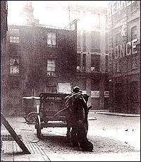 A black and white photo of Mitre Square.