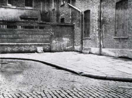 The corner of Mitre Square where the body of Catherine Eddowes was found.
