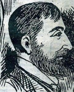 A press sketch of Inspector Edmund Reid.