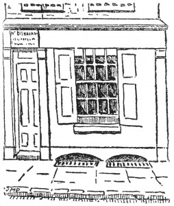 A sketch of 29 Hanbury Street's facade.