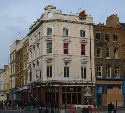 An exterior view of the Ten Bells Pub.