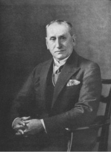 A black and white photograph of Detective Inspector Wensley.