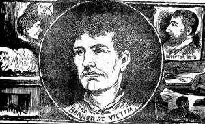 An illustration showing Berner Street victim Elizabeth Stride.