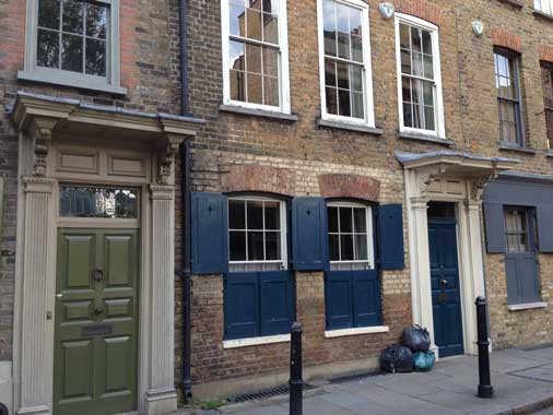 Some of the old houses in Spitalfields.