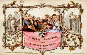 The first Christmas card .