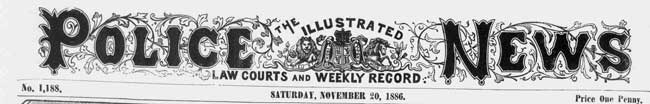 The Illustrated Police News Banner.